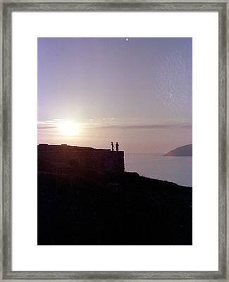 Sounion Greece Framed Print by Mike McCool