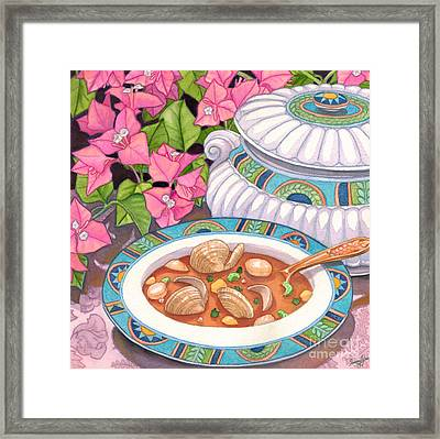 Soup And Bougainvillia Framed Print by Tammy Yee