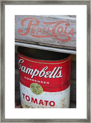 Soup And Soda Framed Print