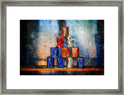 Soup Cans - After The Lunch Framed Print by Alexander Senin
