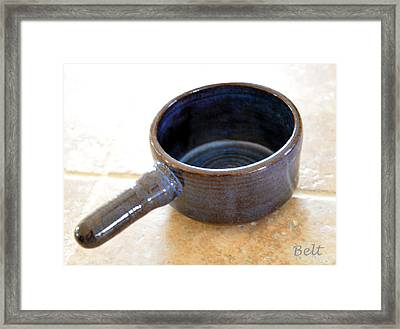 Soup Connoisseur Framed Print by Christine Belt