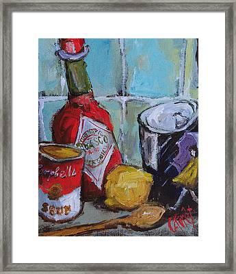 Soup Kitchen Framed Print by Carole Foret