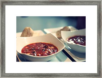 Soup Framed Print