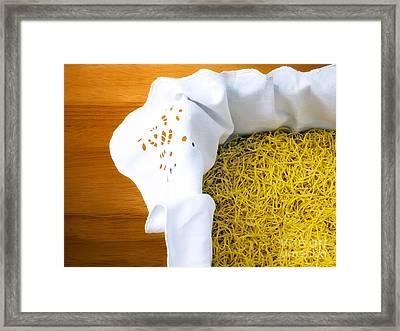 Soup Noodles Framed Print by Sinisa Botas