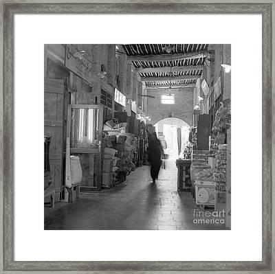 Souq Waqif Arcades Framed Print by Paul Cowan