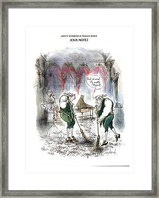 Sour Notes 'yeah Framed Print by Ronald Searle