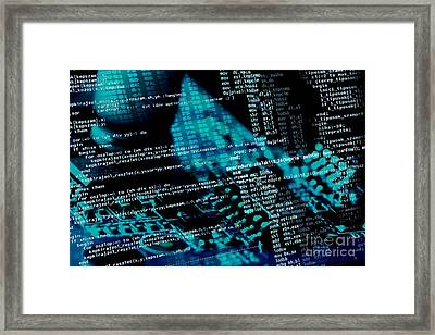 Source Code Framed Print by Peter Gudella