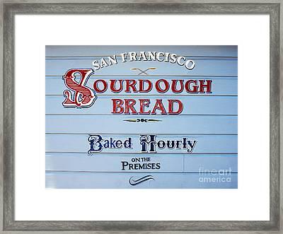 Sourdough Bread Framed Print by Jon Neidert