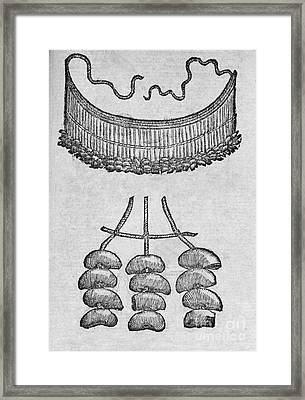 Soursop Seed Necklace, 16th Century Framed Print