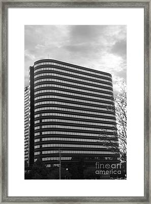 Soutfield Round Hi Rise Black And White Framed Print by Bill Woodstock