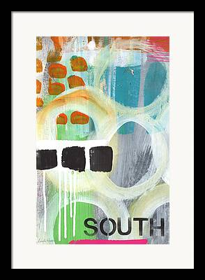 Abstract Expressionism Mixed Media Framed Prints