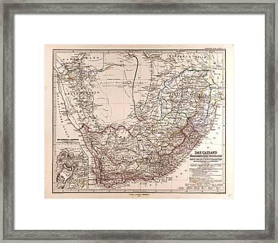 South Africa 1872 Map Gotha Justus Perthes 1872 Atlas Framed Print