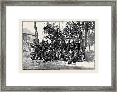 South Africa Basuto Police With Their Leader Framed Print by South African School