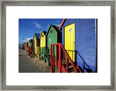 South Africa, Cape Town, Brightly Framed Print by Paul Souders