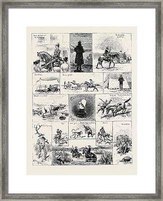 South Africa Life In The Natal Mounted Police Framed Print by South African School