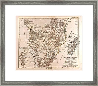 South Africa Madagascar Map Gotha Justus Perthes 1872 Atlas Framed Print