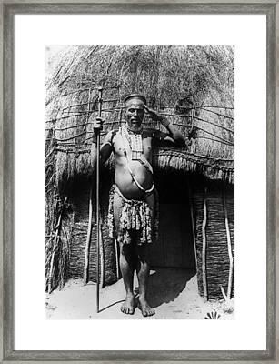 South Africa Zulu Chief Framed Print by Granger