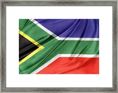 South African Flag  Framed Print by Les Cunliffe
