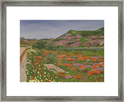 Framed Print featuring the painting South African Grasslands by Hilda and Jose Garrancho