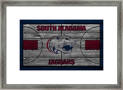 South Alabama Jaguars Framed Print by Joe Hamilton