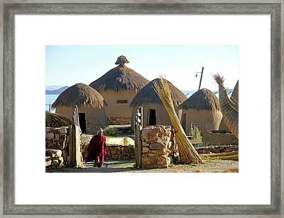 South America, Bolivia, Huatajata Framed Print by Kymri Wilt