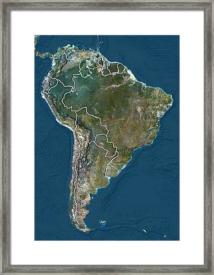 South America, Satellite Image Framed Print by Science Photo Library