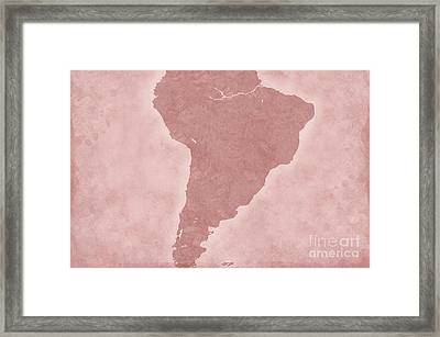 South America Framed Print by Tina M Wenger