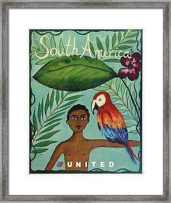 South America United Airlines Framed Print