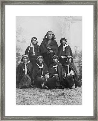 South American Arancanos Tribe Framed Print by Underwood Archives