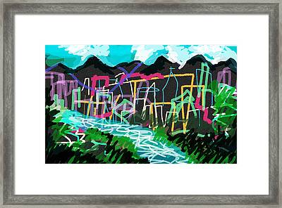 South American City Framed Print by Paul Sutcliffe