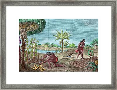 South American Indians Framed Print