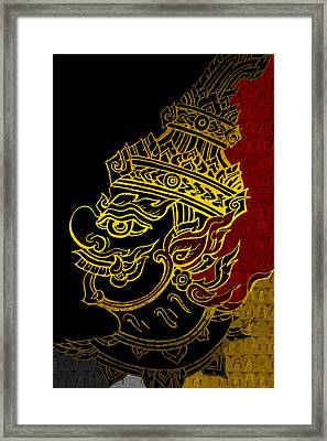 South Asian Art Motives Framed Print