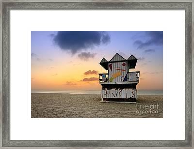 South Beach 1 Framed Print