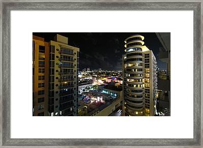 South Beach - 12121 Framed Print