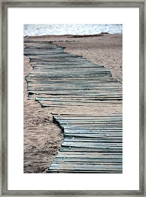 South Beach Boardwalk Framed Print