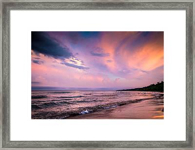 South Beach Clouds Framed Print