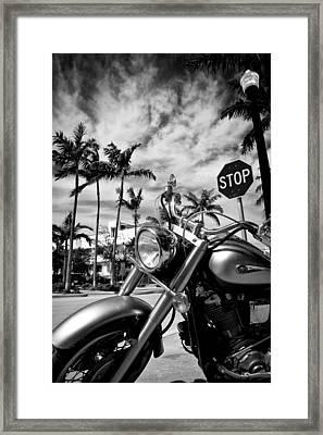 South Beach Cruiser Framed Print by Dave Bowman