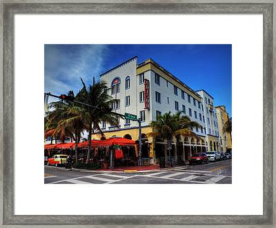 South Beach - Edison Hotel 001 Framed Print