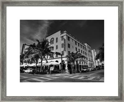 South Beach - Edison Hotel 002 Framed Print