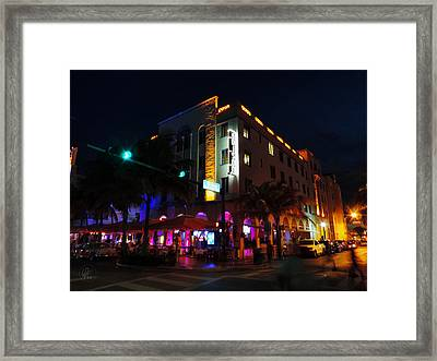 South Beach - Edison Hotel 003 Framed Print