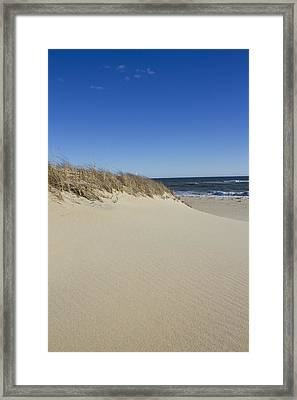 South Beach In The Winter  Framed Print by Eugene Bergeron