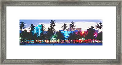 South Beach Miami Beach Florida Usa Framed Print by Panoramic Images