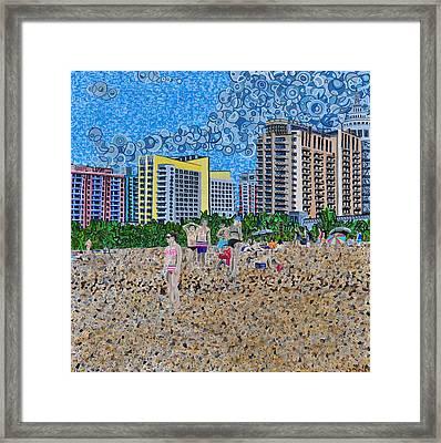 South Beach - Miami Framed Print by Micah Mullen