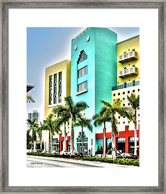 South Beach Framed Print by Michelle Wiarda