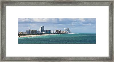 South Beach On A Summer Day Framed Print