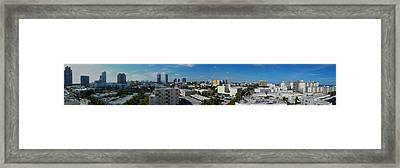 South Beach Sofi District Framed Print