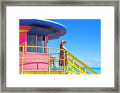 South Beach View Framed Print by Dennis Cox WorldViews