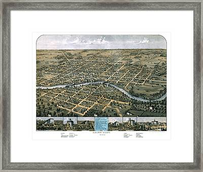 South Bend - Indiana - 1866 Framed Print by Pablo Romero