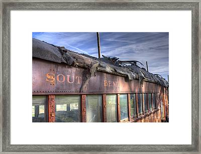 Framed Print featuring the photograph South Bend Railroad - Seen Better Days by Ed Cilley