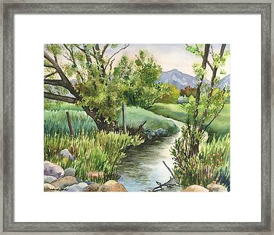 South Boulder Creek Framed Print by Anne Gifford